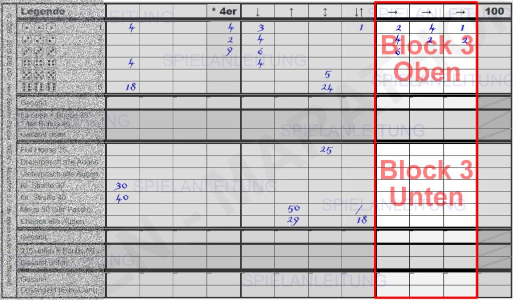 kniffel spielblock pdf