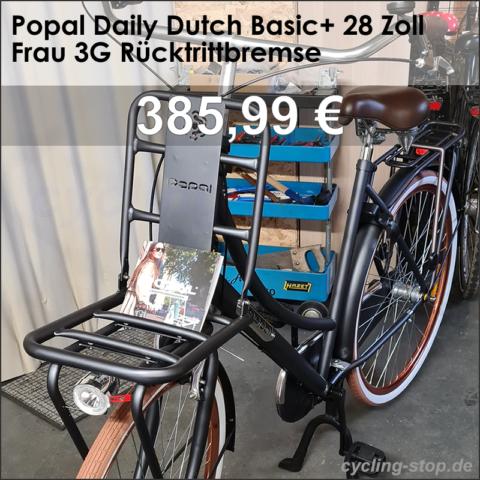 Popal Daily Dutch Basic+ 28 Zoll Frau 3G Rücktrittbremse Dunkelblau